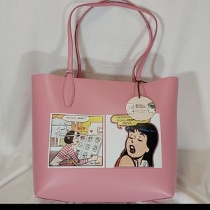 Kate Spade Archie Comics Reversible Tote&Pouch NWT